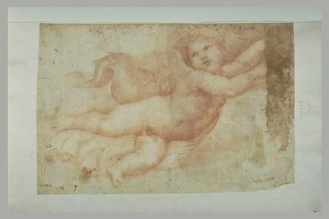 Palaemon, tenant un dauphin, d'après la Loggia de Galatée