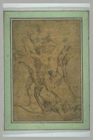Combat de six hommes nus : figures de l'Ecole d'Athènes