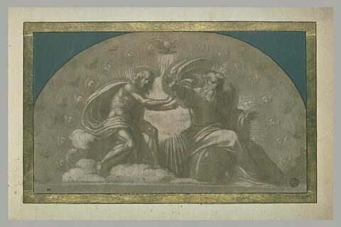 La Sainte Trinité dans une gloire d'anges