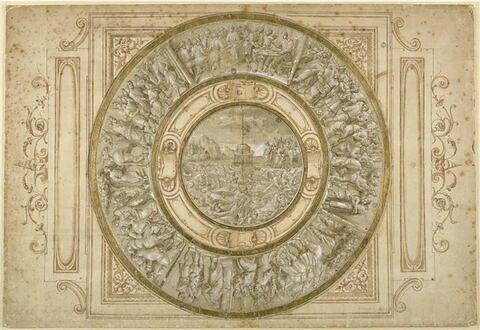 Projet de plat circulaire avec scènes de l'Histoire de Moïse et de Joseph
