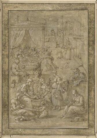 La naissance de saint Jean et l'imposition du nom de Baptiste