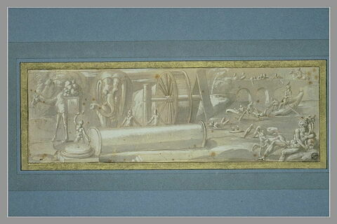 La construction de la basilique de Saint-Pierre ; les cadavres des ennemis..