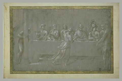 Scène de banquet antique