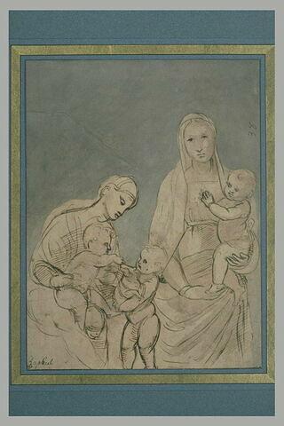 Vierge à l'Enfant et Vierge à l'Enfant avec le petit saint Jean