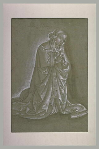 Figure de Vierge agenouillée, les mains jointes
