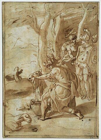 Gédéon pressant la toison imprégnée de rosée