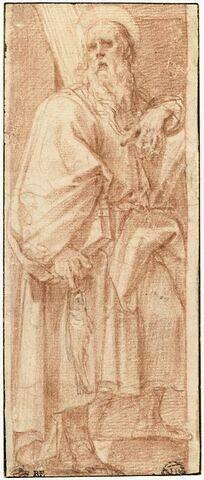 Saint André portant la croix, dans une niche