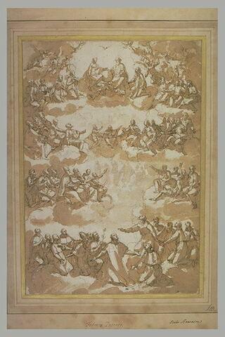 Saint Philippe de Néri reçu dans le ciel