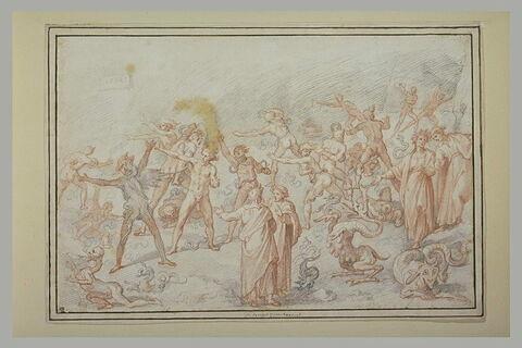 Dante et Virgile aux Enfers rencontrant les Voleurs