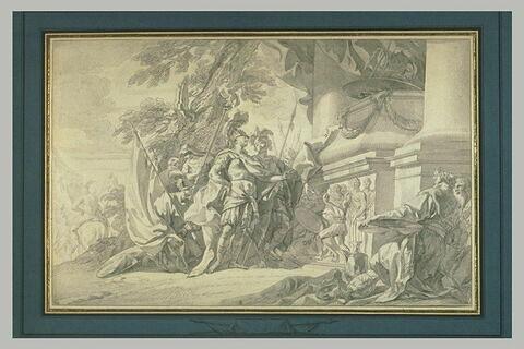 Alexandre visitant le tombeau d'Achille
