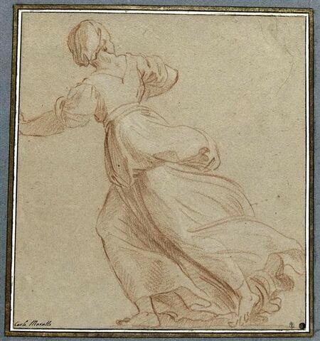 Femme courant, vue de dos