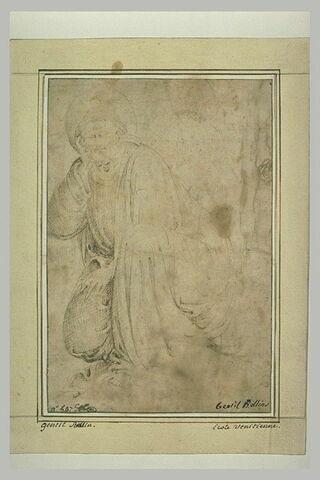 Un apôtre à genoux et endormi au Jardin des oliviers