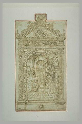 Annonciation, étude pour un tableau d'autel