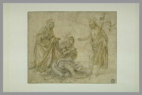 Le Christ apparaissant à trois saintes femmes