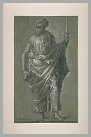 Saint Paul, debout tenant un livre et un glaive