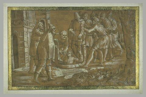 Joseph descendu dans la citerne par ses frères