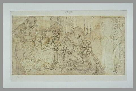 Naissance de la Vierge ou de saint Jean Baptiste et  un terme