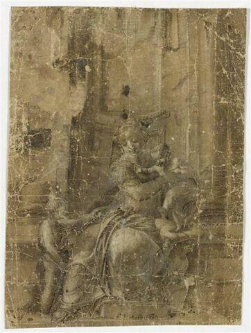 La Vierge assise tenant l'Enfant Jésus et le petit saint Jean