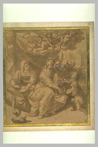 Sainte Famille avec sainte Elisabeth et saint Jean-Baptiste