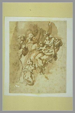 Sanite famille avec sainte Anne et saint Jean-Baptiste