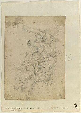 Saint Marc entouré d'anges et de son lion