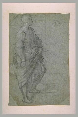 Jeune homme debout, drapé et tourné vers la droite