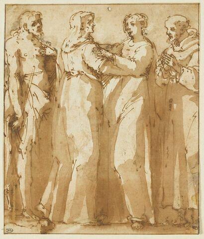 Visitation, avec saint Jean-Baptiste, et saint François d'Assise