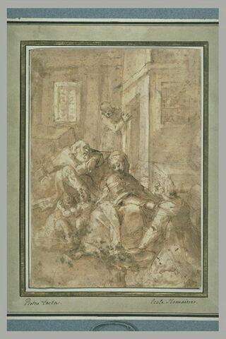 La Sainte Famille avec saint Jean et sainte Elisabeth