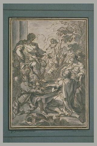 Actius demandant à Justinien sa fille en mariage