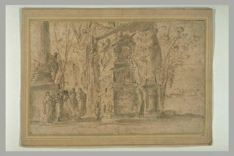 Artémise devant le mausolée de son époux