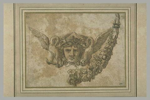 Tête de Méduse, étude pour une décoration