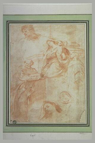 La Vierge et l'Enfant du retable Pesaro