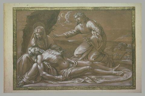 Le Christ mort, soutenu par la Vierge et pleuré par saint Jean
