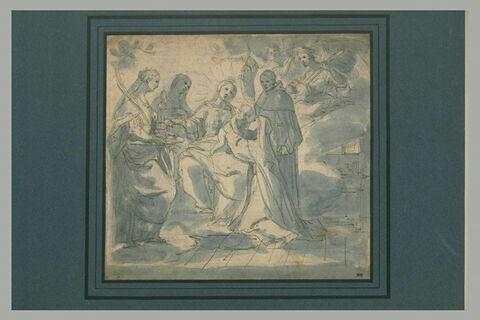 Vierge à l'Enfant avec sainte Catherine d'Alexandrie, sainte Marie-Madeleine, saint Dominique et sainte Catherine de Sienne.