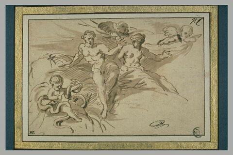 Hercule enfant étouffant les serpents envoyés par Junon