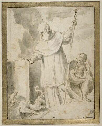 Le pape saint Silvestre enfermant le démon