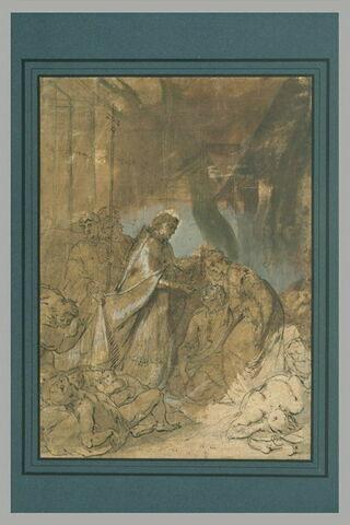 Saint Charles Borromée donnant la communion aux pestiférés