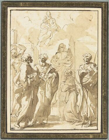 Apparition de la Vierge et de l'Enfant à plusieurs saints