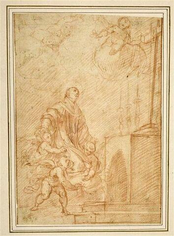 Extase de saint Philippe Néri ou de saint Charles Borromée