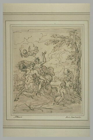 Héraclès empèche Nessos d'enlever Déjanire
