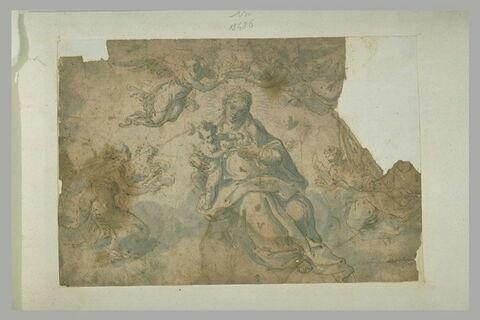 Vierge à l'Enfant couronnée par les anges