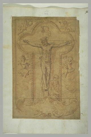 Le Christ en croix, pleuré par Marie Madeleine