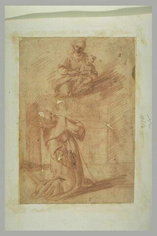 Apparition de la Vierge à l'Enfant à un religieux