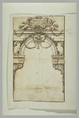 Etude pour une décoration architecturale, à la mémoire de saints martyrs