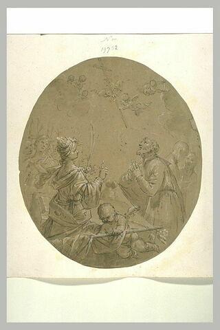 Sainte martyre et saint en prières