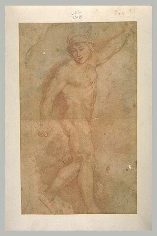 Jeune homme nu, debout, tourné vers la droite, étude pour la figure d'Hermès