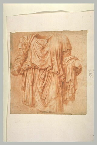 Etude de draperie, d'après une statue antique