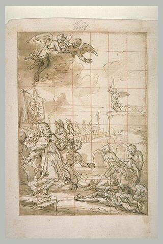 Saint Grégoire faisant une procession pour obtenir la cessation de la peste