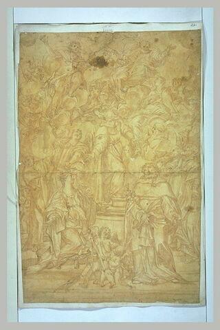 Martyres et saints contemplant la Sainte Trinité