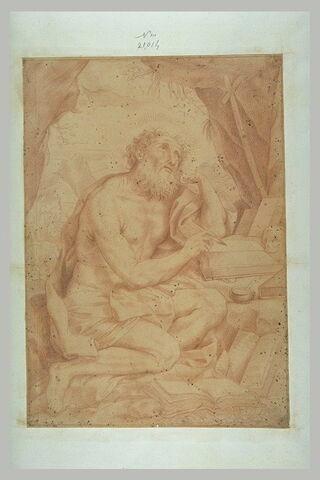 Saint Jérôme écrivant